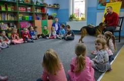 2019-04-12 - Wszystkie grupy - Wizyta psa ze schroniska oraz zakończenie akcji charytatywnej