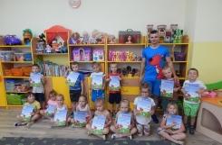 2019-06-25 - Wszystkie grupy - Dyplomy za udział w zajęciach z piłką - Przedszkoliada